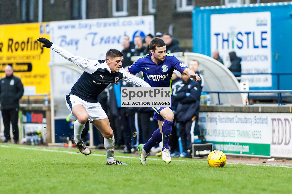 Action from the Raith Rovers v Hibernian game in the 3rd Round of the Scottisg Cup at  in Kirkcaldy, 9 January 2016. (c) Paul J Roberts / Sportpix.org.uk