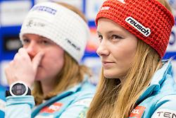Ana Drev at press conference of Slovenian Alpine Ski Team before World Cup in St. Moritz, on January 31 2017, in Ljubljana, Slovenia. Photo by Urban Urbanc / Sportida