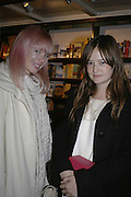 Erin Fetherston and Leith Clark, Book launch of Pretty Things by Liz Goldwyn at Daunt <br />