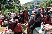 Day of the Dead celebration, which involves heavy drinking, in Todos Santo de Cuchumatan, Guatemala.