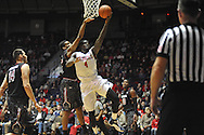 "Mississippi Rebels forward M.J. Rhett (4) vs. South Carolina at the C.M. ""Tad"" Smith Coliseum in Oxford, Miss. on Saturday, January 10, 2015. (AP Photo/Oxford Eagle, Bruce Newman)"