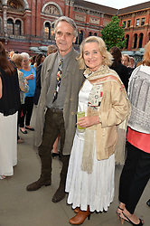 JEREMY IRONS and SINEAD CUSACK at the V&A Summer Party in association with Harrod's held at The V&A Museum, London on 22nd June 2016.