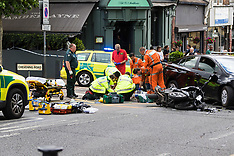 2017-06-11 London: Emergency services respond after scooter in collision with car in Kensal rise
