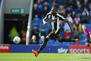 Notts County forward Shola Ameobi (9) during the EFL Sky Bet League 2 match between Chesterfield and Notts County at the b2net stadium, Chesterfield, England on 25 March 2018. Picture by Jon Hobley.