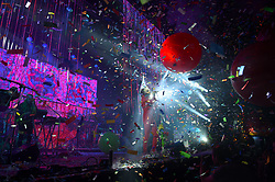 The Flaming Lips performing on The Park Stage at Glastonbury Festival, at Worthy Farm in Somerset.