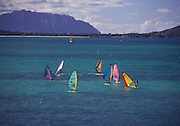 Windsurfing, Kailua, Hawaii<br />