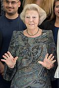 Prinses Beatrix tijdens het symposium Muscles2Meet. Het evenement is een initiatief van het Prinses Beatrix Spierfonds.<br /> <br /> Princess Beatrix during the Muscles2Meet symposium. The event is an initiative of the Princess Beatrix Muscle Fund.