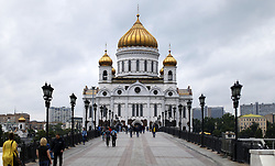 June 12, 2018 - Moscou, Rússia - MOSCOU, MO - 12.06.2018: GENERAL PICTURES MOSCOW 2018 - External view of the Cathedral of Christ the Savior, what? a temple of the Russian Orthodox Church on the afternoon of today (12), which commemorates the day of Russia in Moscow, Russia. (Credit Image: © Rodolfo Buhrer/Fotoarena via ZUMA Press)