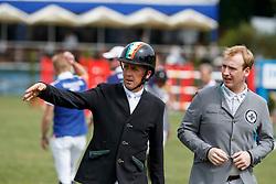 BREEN Shane (IRL), DUFFY Michael G (IRL)<br /> Hamburg - 89. Deutsches Spring- und Dressur Derby 2018<br /> Global Champions League<br /> 12.Mai 2018<br /> www.sportfotos-lafrentz.de/Stefan Lafrentz