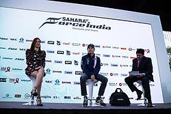 October 25, 2017 - EUM20171025DEP13.JPG.CIUDAD DE MÉXICO.- Race/Carreras-GP México.- El piloto mexicano de Fórmula Uno, Sergio Pérez, durante conferencia de prensa en Plaza Carso, este miércoles 25 de octubre de 2017, en el marco del Gran Premio de México a llevarse a cabo este fin de semana. Foto: Agencia EL UNIVERSAL/Cristopher Rogel Blanquet/RCC. (Credit Image: © El Universal via ZUMA Wire)