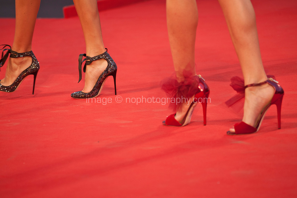 Shoe detail on the red carpet at the gala screening for the film Spotlight at the 72nd Venice Film Festival, Thursday September 3rd 2015, Venice Lido, Italy.