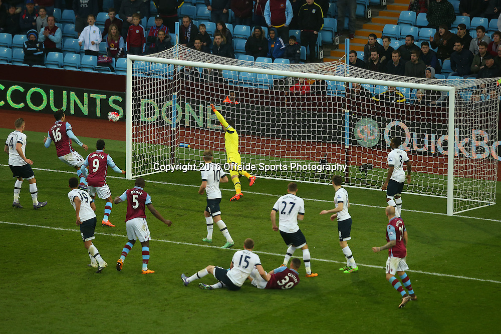 13 March 2016 - Barclays Premier League - Aston Villa v Tottenham Hotspur -Joleon Lescott of Aston Villa fails to convert a late chance - Photo: Marc Atkins / Offside.