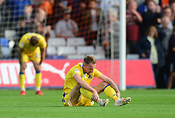 Chris Lines of Bristol Rovers looks dejected at full time. - Mandatory by-line: Alex James/JMP - 15/09/2018 - FOOTBALL - Kenilworth Road - Luton, England - Luton Town v Bristol Rovers - Sky Bet League One