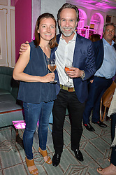 MARCUS WAREING and his wife JANE at the 2016 Fortnum & Mason Food & Drink Awards held at Fortnum & Mason, Piccadilly, London on 12th May 2016.