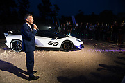 August 22-26, 2018. Monterey Car Week. Lamborghini SVJ Special Edition unveil, Maurizio Reggiani, head of Lamborghini R&D