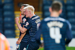 Jamie Ward celebrates with Will Hughes of Derby after scoring his second goal to give his side a 1-3 lead - Photo mandatory by-line: Rogan Thomson/JMP - 07966 386802 - 17/09/2014 - SPORT - FOOTBALL - Blackburn, England - Ewood Park Stadium - Blackburn Rovers v Derby County - Sky Bet Championship.