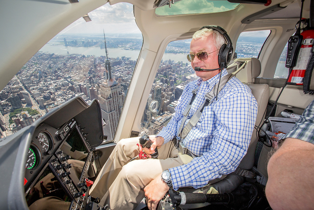 John Kjekstad took his fascination of flying from Norway to New York and started HeliNY, the city's biggest helicopter charter company.