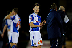 Bristol Rovers goalscorer Ollie Clarke (ENG) claps fans after a victory in the match - Photo mandatory by-line: Rogan Thomson/JMP - Tel: Mobile: 07966 386802 - 21/12/2013 - SPORT - FOOTBALL - Memorial Stadium, Bristol - Bristol Rovers v Portsmouth - Sky Bet League Two.