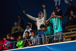 October 15, 2018 - Stockholm, SVERIGE - 181015 Publik jublar under fÅ¡rsta omgÅ'ngen av tennisturneringen Stockholm Open den 15 oktober 2018 i Stockholm  (Credit Image: © Simon HastegRd/Bildbyran via ZUMA Press)