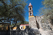 The tiny Capilla de la Cieneguita or chapel near San Miguel de Allende in Cieneguita, Mexico.