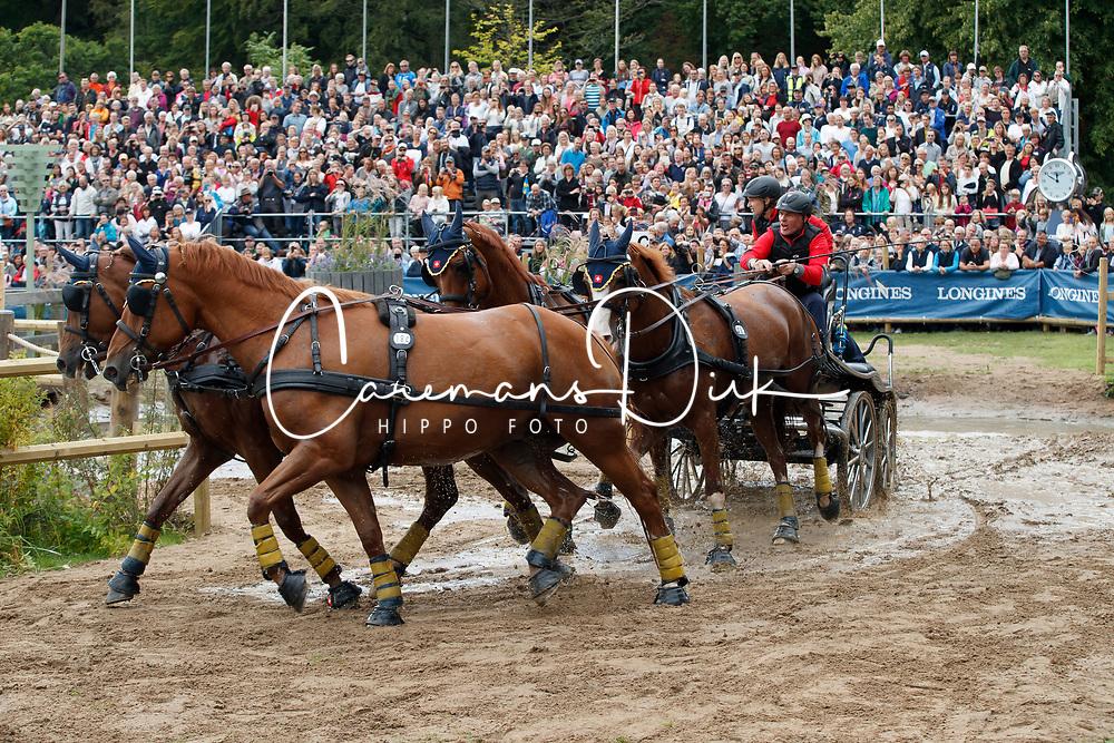Wagner Martin, SUI, Cato V, Finity 2, Korina, Lucky XIX CH, Ninjo CH<br /> FEI European Driving Championships - Goteborg 2017 <br /> &copy; Hippo Foto - Dirk Caremans<br /> 26/08/2017,