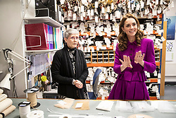 The Duchess of Cambridge visits the Costume Department at The Royal Opera House in London, UK, on the 16th January 2019. Picture by Heathcliff O'Malley/WPA-Pool. 16 Jan 2019 Pictured: Catherine, Duchess of Cambridge, Kate Middleton. Photo credit: MEGA TheMegaAgency.com +1 888 505 6342