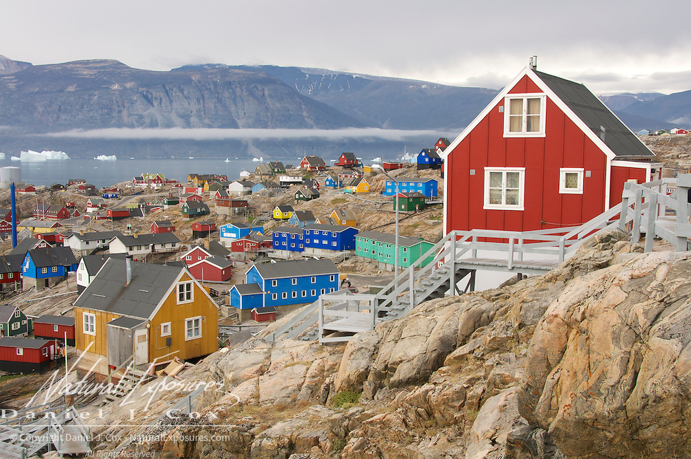 The small fishing village called Uummannaq, Greenland\