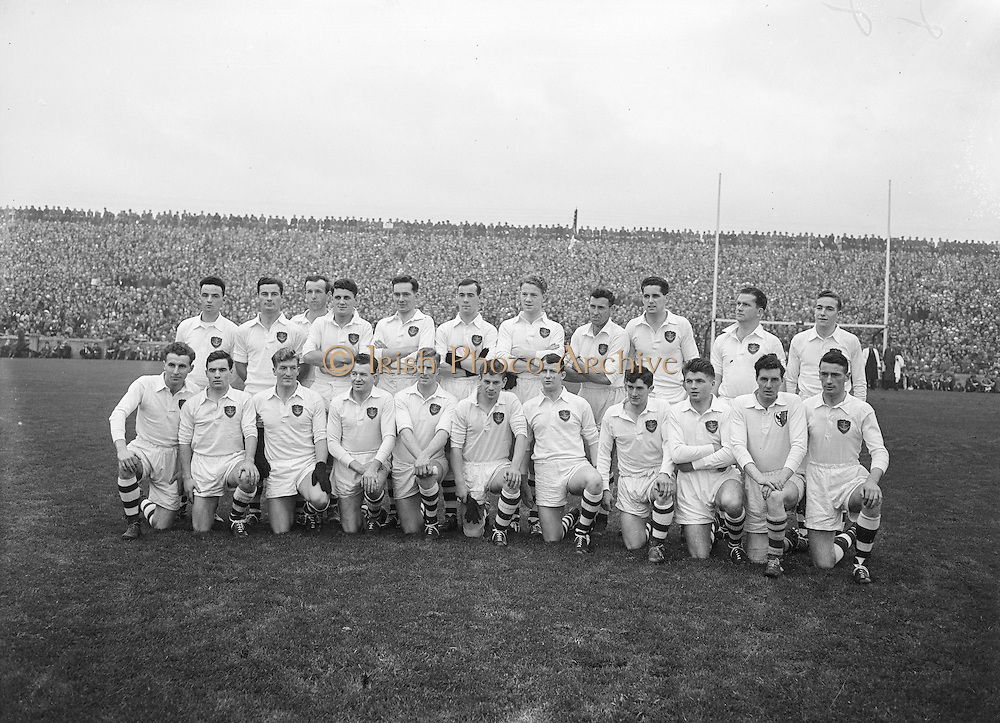 All Ireland Senior Football Championship Final, Cork v Galway, Galway 2-13 Cork 3-7,.07.10.1956, 10.07.1956, 7th October 1956, 7101956AISFCF,.Galway Team.J Mangan (capt), J Keeley, G Daly, T Dillon, J Kissane, J Mahon, M Greally, F Evers, Matly McDonagh, J Coyle, S Purcell, W O'Neill, J Young, F Stockwell, G Kirwan, Sub, A Swords for Young,..