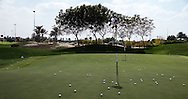 Practice chipping area, The Track at The Meydan Golf Club, Dubai, United Arab Emirates.  31/01/2016. Picture: Golffile | David Lloyd<br /> <br /> All photos usage must carry mandatory copyright credit (© Golffile | David Lloyd)