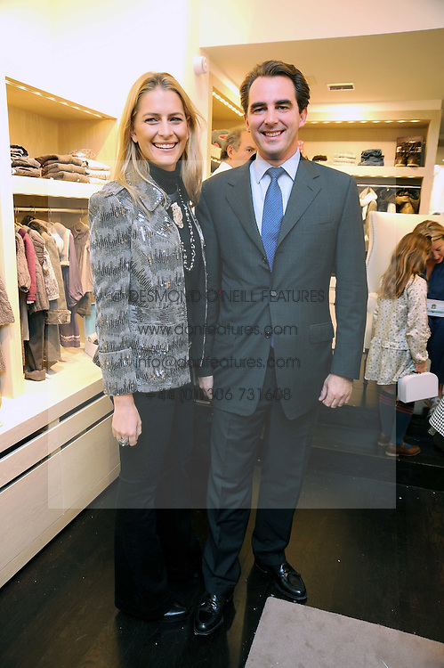 PRINCE NIKOLAOS OF GREECE and TATIANNA BLAHNIK at a party to celebrate the opening of Pincess Marie-Chantal of Greece's store 'Marie-Chantal' 133A Sloane Street, London on 14th October 2008.