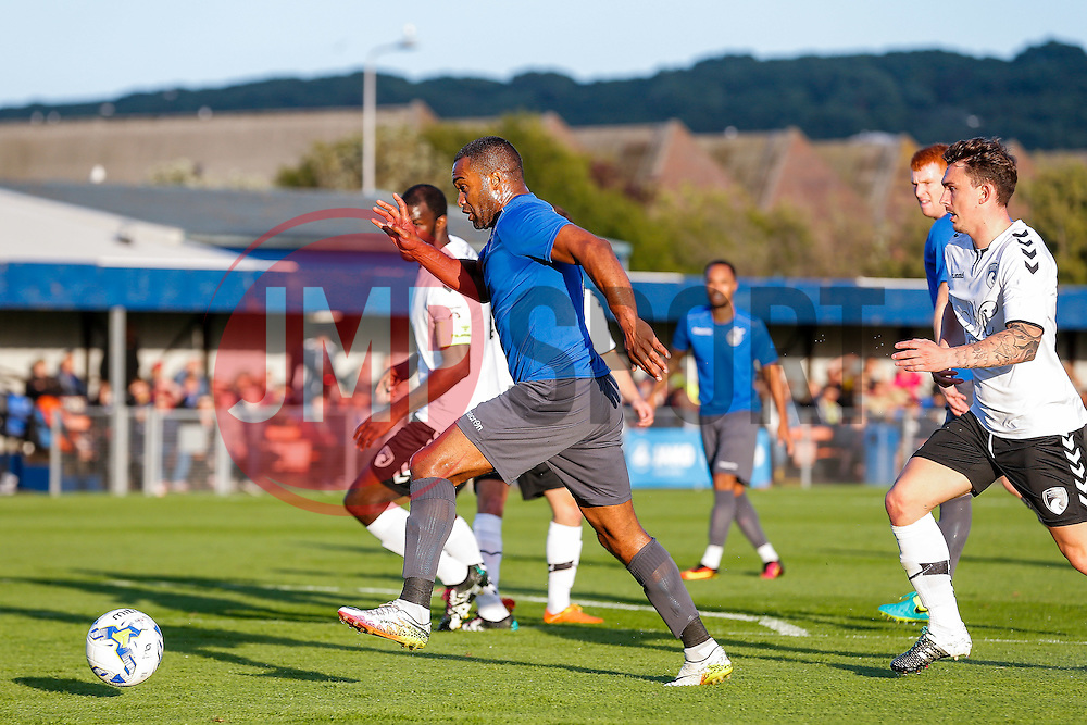 Jermaine Easter of Bristol Rovers in action - Mandatory by-line: Rogan Thomson/JMP - 13/07/2016 - SPORT - Football - Woodspring Stadium - Weston-super-Mare, England - Weston-super-Mare AFC v Bristol Rovers - Pre Season Friendly.