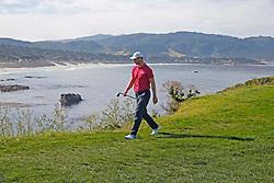 June 11, 2019 - Pebble Beach, CA, U.S. - PEBBLE BEACH, CA - JUNE 11: PGA golfer Martin Kaymer walks the 8th hole during a practice round for the 2019 US Open on June 11, 2019, at Pebble Beach Golf Links in Pebble Beach, CA. (Photo by Brian Spurlock/Icon Sportswire) (Credit Image: © Brian Spurlock/Icon SMI via ZUMA Press)