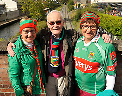 Breege Jennings, Austin Garvin and Julie Loftus from Balla at the All Ireland Football Final<br />