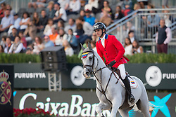 Rodriguez Andres, (VEN), Darlon van Groenhove <br /> First Round<br /> Furusiyya FEI Nations Cup Jumping Final - Barcelona 2015<br /> © Dirk Caremans<br /> 24/09/15