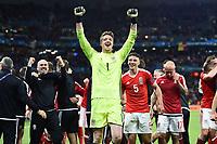 esultanza fine gara Galles Wales celebration<br /> Lille 01-07-2016 Stade Pierre Mauroy Football Euro2016 Wales - Belgium / Galles - Belgio <br /> Quarter-finals. Foto Matteo Gribaudi/Image Sport/ Insidefoto
