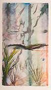 I looked out the window (watercolor on rag paper) by Mark Hiebert (12.5 x 22.5 inches, $575)