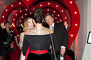 BASIA BRIGGS; GIZZI ERSKINE; RICHARD BRIGGS, Tunnel of Love. Funfair party The Mending Broken Hearts appeal In aid of the British Heart Foundation. Victoria House, Bloomsbury. London. 17 May 2011. <br /> <br />  , -DO NOT ARCHIVE-© Copyright Photograph by Dafydd Jones. 248 Clapham Rd. London SW9 0PZ. Tel 0207 820 0771. www.dafjones.com.
