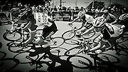 Competitors in the Bay Cycling Classic, Williamstown, Melbourne, Australia
