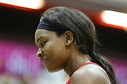 Player of the match England Women GK Eboni Usoro-Brown after the Netball World Cup 2019 Preparation match between England Women and Uganda at Copper Box Arena, Queen Elizabeth Olympic Park, United Kingdom on 30 November 2018.