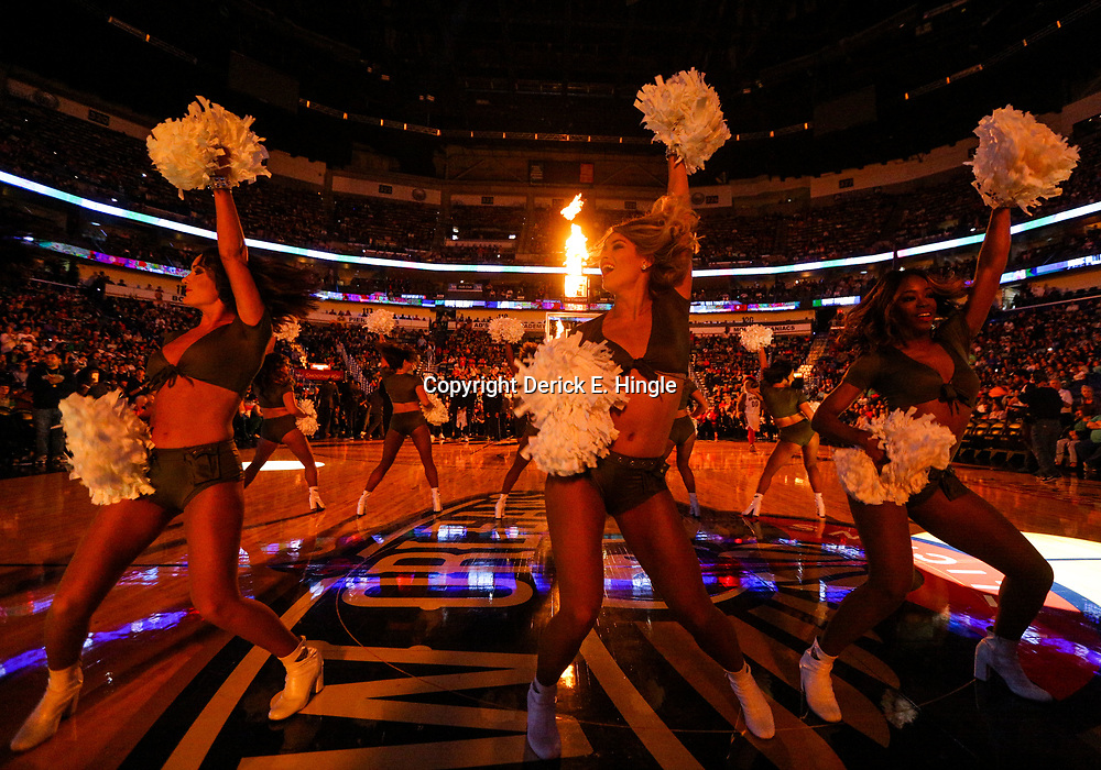 Mar 18, 2018; New Orleans, LA, USA; New Orleans Pelicans dance team performs during introductions before a game against the Boston Celtics at the Smoothie King Center. Mandatory Credit: Derick E. Hingle-USA TODAY Sports