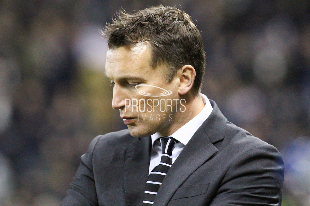 Derby County interim manager Darren Wassall during the Sky Bet Championship match between Derby County and Blackburn Rovers at the iPro Stadium, Derby, England on 24 February 2016. Photo by Aaron  Lupton.