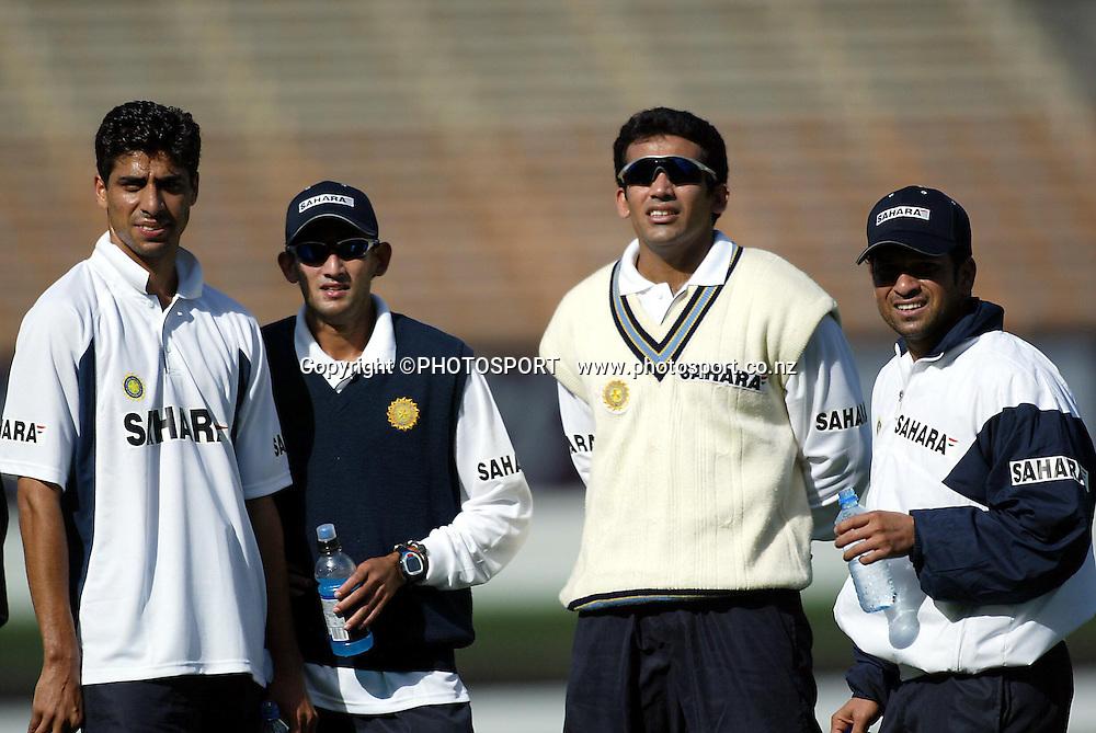 03 December 2002, Jade Stadium, Christchurch, New Zealand, Indian Cricket tour to New Zealand 02/03<br />Pic: Andrew Cornaga / Photosport
