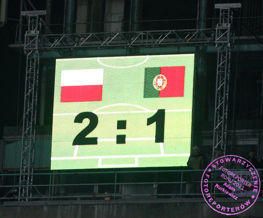 CHORZOW 11/10/2006..POLAND _ PORTUGAL..EURO 2008 GROUP G QUALIFIER..FINAL RESULT..FOT. PIOTR HAWALEJ / WROFOTO