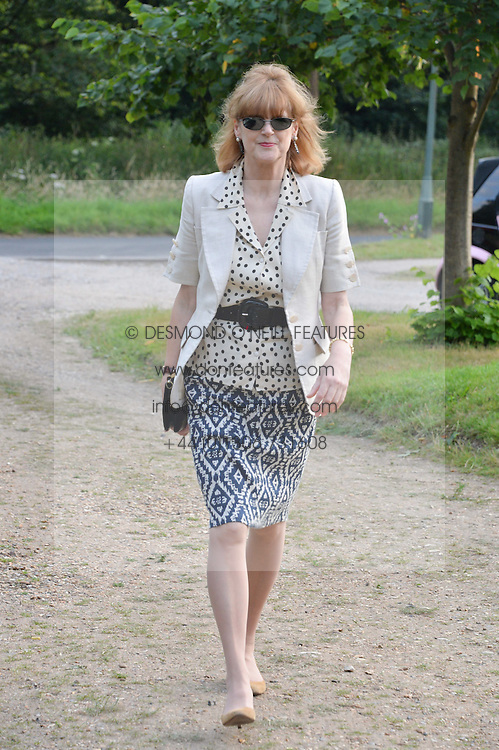 VIRGINIA FRASER attending Annabel Goldsmith's Summer party held at her home in Ham, Surrey on 10th July 2014.