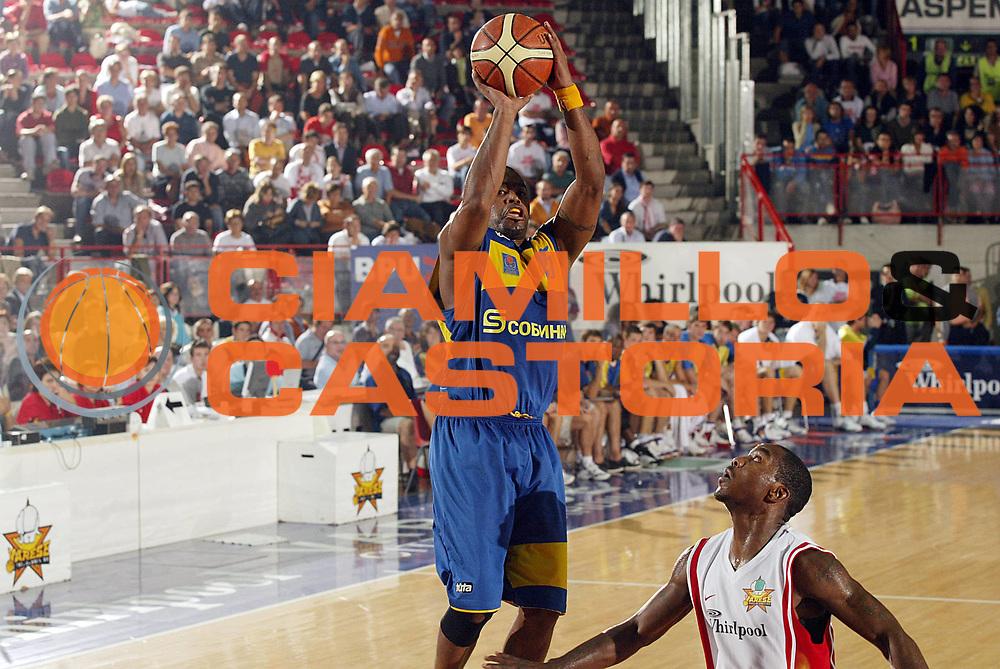 DESCRIZIONE : Varese Precampionato Lega A1 2006-07 Trofeo Akena Memorial Cesare Fermi Whirlpool Varese Khimky Mosca<br /> GIOCATORE : Booker <br /> SQUADRA : Khimky Mosca<br /> EVENTO : Precampionato Lega A1 2006-2007 Trofeo Akena Memorial Cesare Fermi<br /> GARA : Whirlpool Varese Khimky Mosca<br /> DATA : 29/09/2006 <br /> CATEGORIA : Tiro <br /> SPORT : Pallacanestro <br /> AUTORE : Agenzia Ciamillo-Castoria/G.Cottini <br /> Galleria : Lega Basket A1 2006-2007 <br /> Fotonotizia : Varese Precampionato Lega A1 2006-07 Trofeo Akena Memorial Cesare Fermi Whirlpool Varese Khimky Mosca<br /> Predefinita :