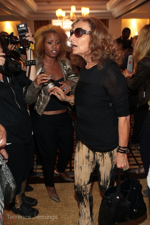 15 September 2010-New York, NY- Diane Von Furstenberg at The LeQuan Smith 2011 Spring/Summer Fashion Show held at The Pennisula Hotel on September 15, 2010 in New York City. ..LaQuan Smith has designed custom fashions for artists including Lady Gaga, Rihanna, Aubrey O'day, Amerie and more. Smith's New York Fashion Week debut was held on February 15, 2010 and he has been featured in many media outlets including The New York Times, New York Daily News and Studio Magazine.