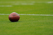A football sits on the field during an NFL game between Tampa Bay Buccaneers and the San Francisco 49ers at Raymond James Stadium on December 15, 2013 in Tampa, Florida.  <br />                                   <br /> <br /> &copy;2013 Scott A. Miller
