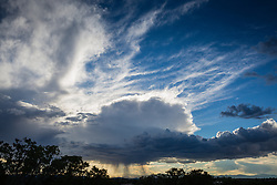 dramatic cloud formations at sunset in Santa Fe, New Mexico