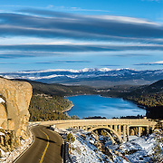 Old 40 bridge above Donner Lake near Truckee, CA.