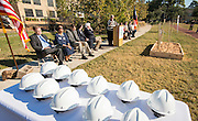 Beth Bonnette comments during a groundbreaking ceremony at Wilson Montessori, November 15, 2016.